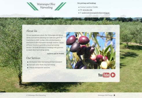 Wairarapa Olive Harvesting